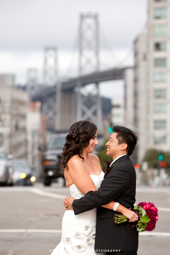 san francisco bay bridge wedding day