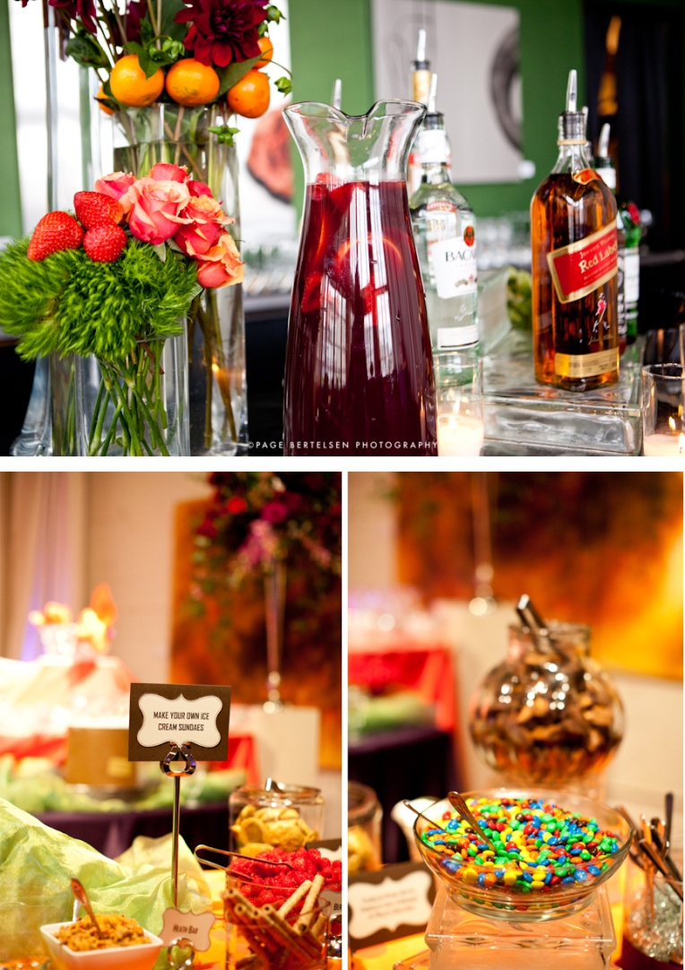 wedding reception dessert bar