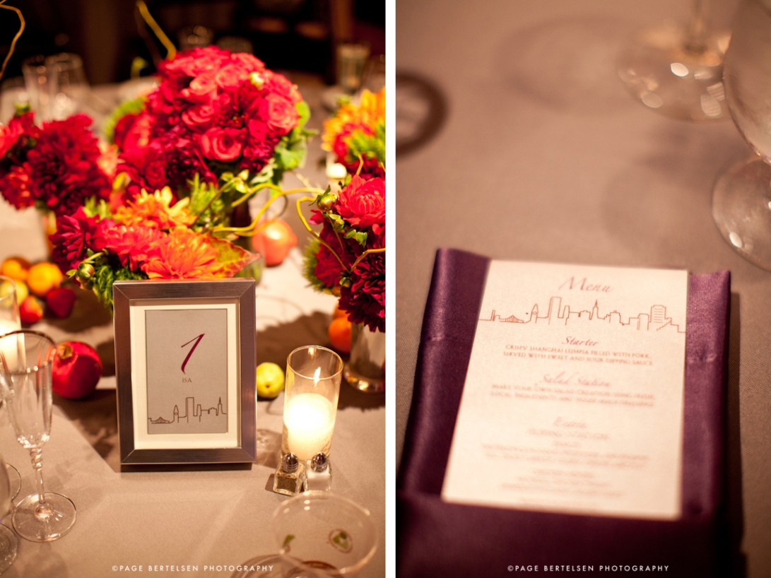 Wedding Table number card menus