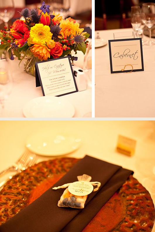 reception table cards & tags