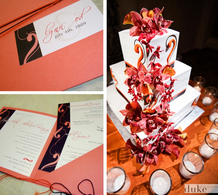 wedding invitations with cake
