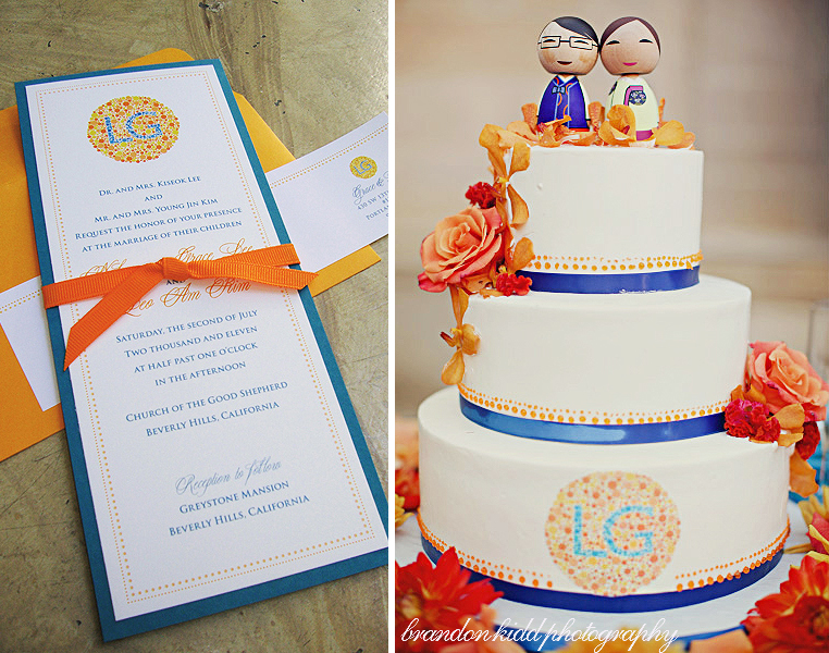 Wedding Invitation styled with cake