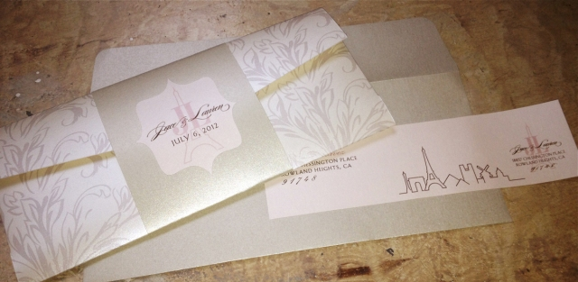 Paris Skyline [all-in-one guest/return address label wraps]