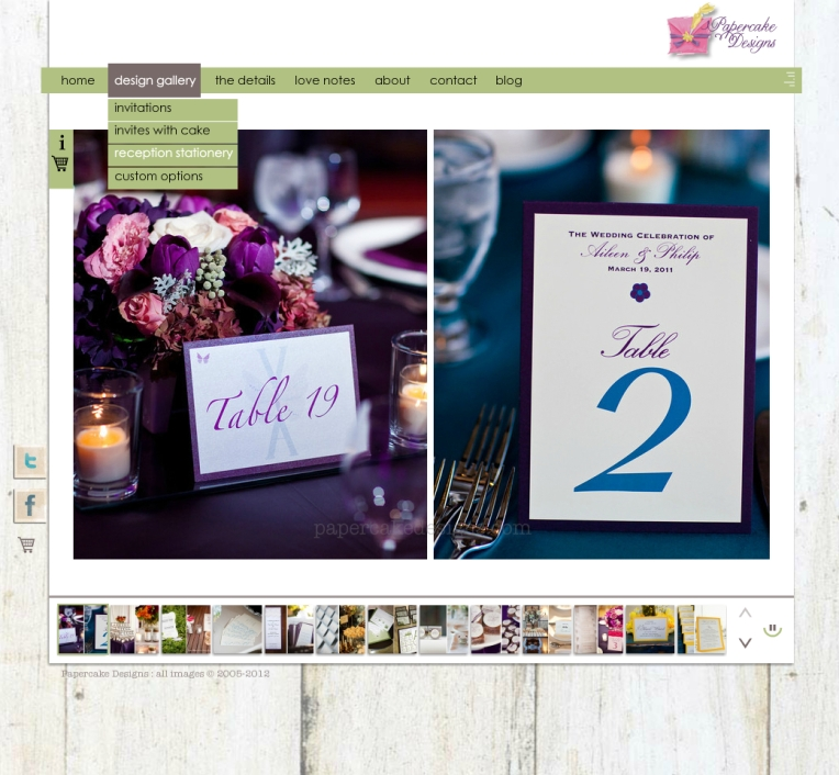 redesigned website 2012