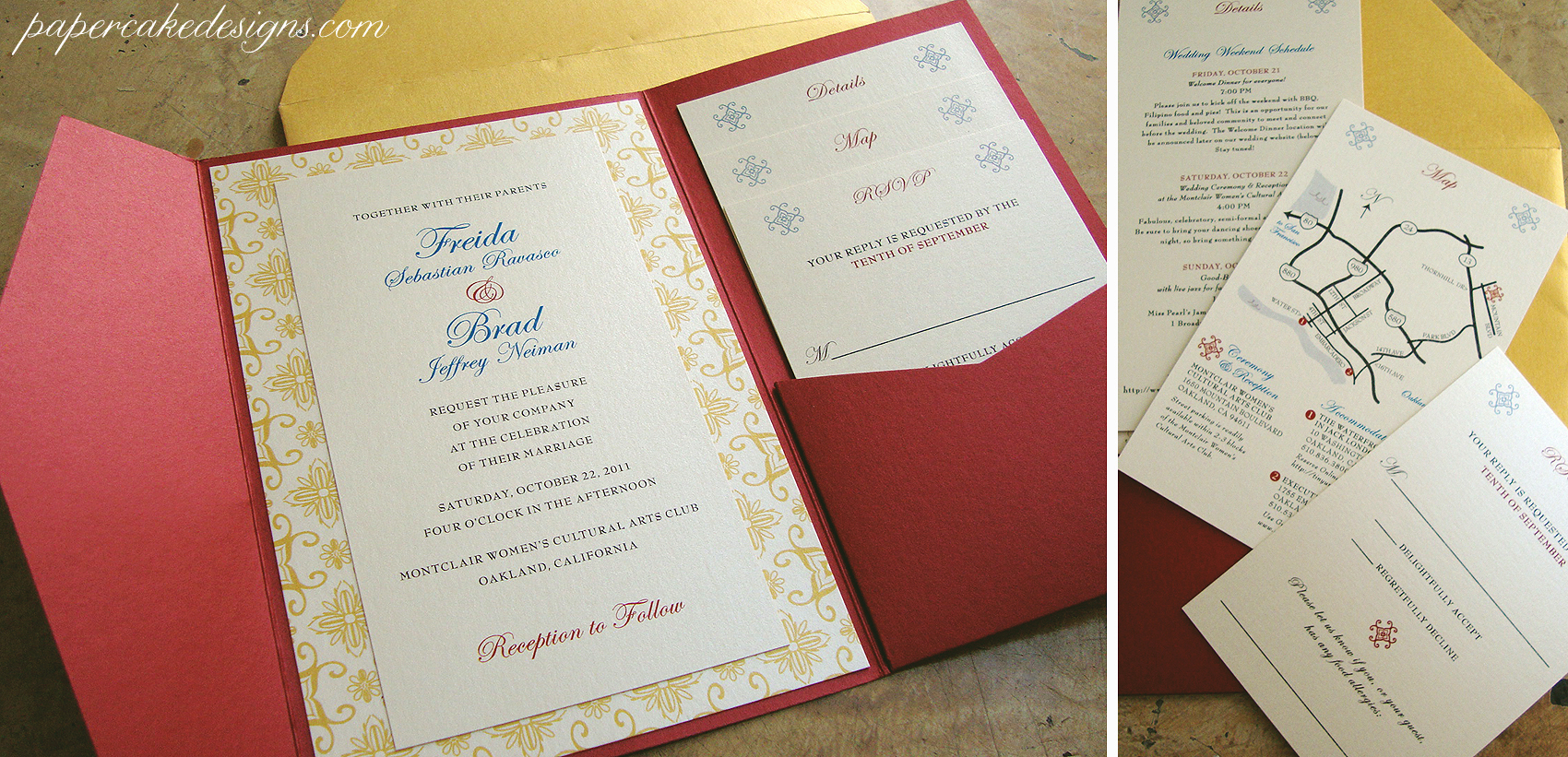 ... Freida DIY Assembly Wedding Invitation