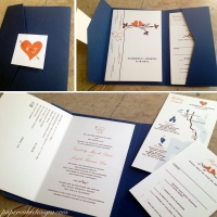 [custom wedding invitation] bilingual booklet + pocket