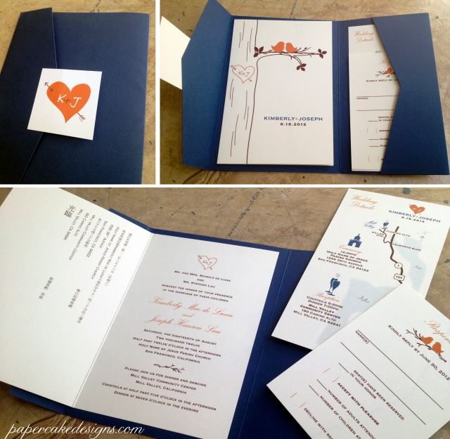 kimberly DIY wedding invitation