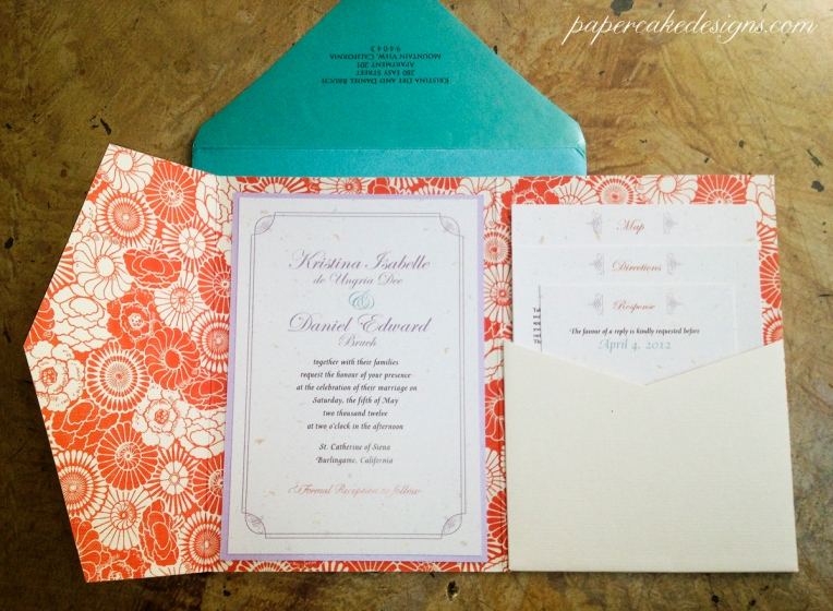 Printed Wedding Invitations: [DIY Print & Assemble] Wedding Invitations