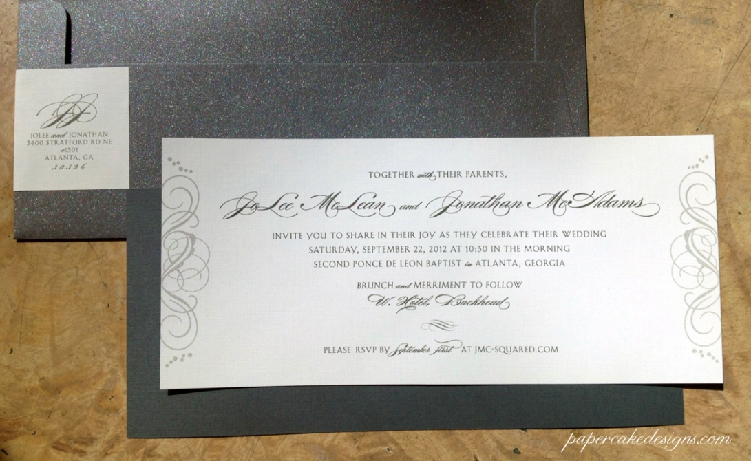 contemporary wedding invite
