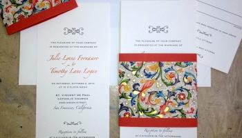 Custom wedding invitation pocket on the back papercake designs custom wedding invitations new designs v2 stopboris Images