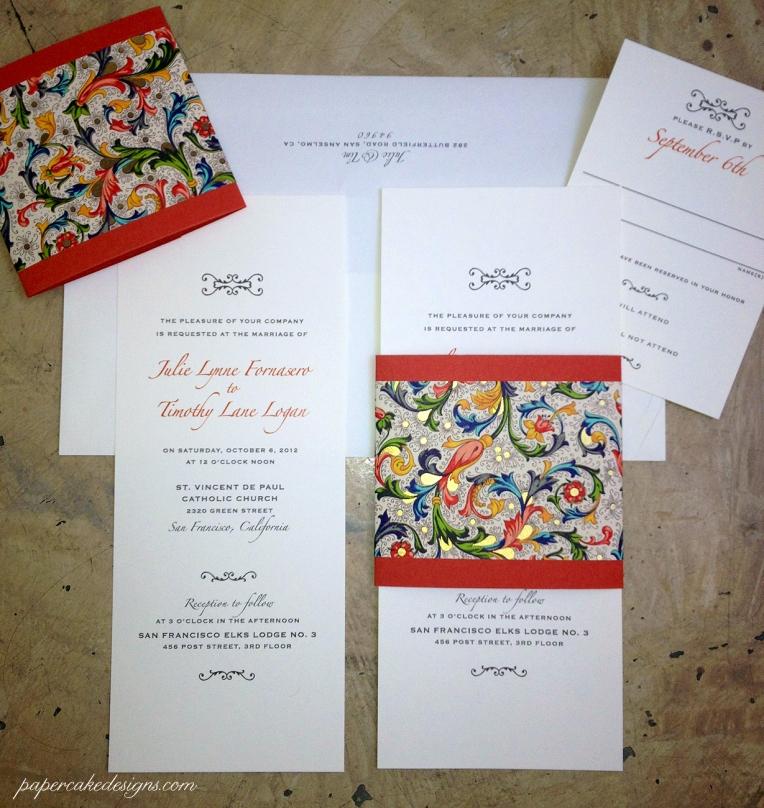 Wedding invitations page 2 papercake designs julie stopboris Images