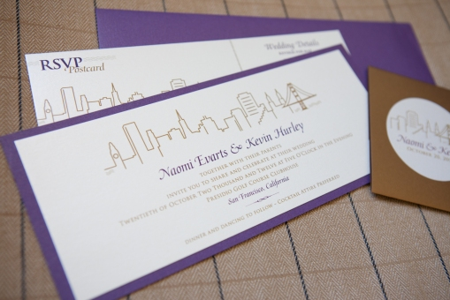 wedding invitation / sf city skyline
