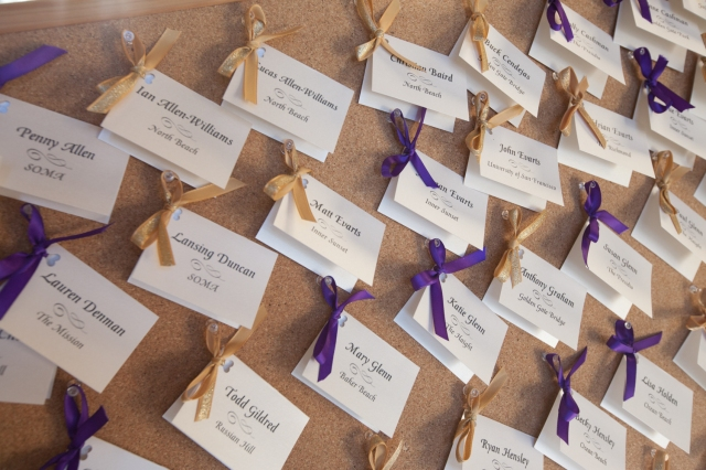 Wedding Reception Escort Cards