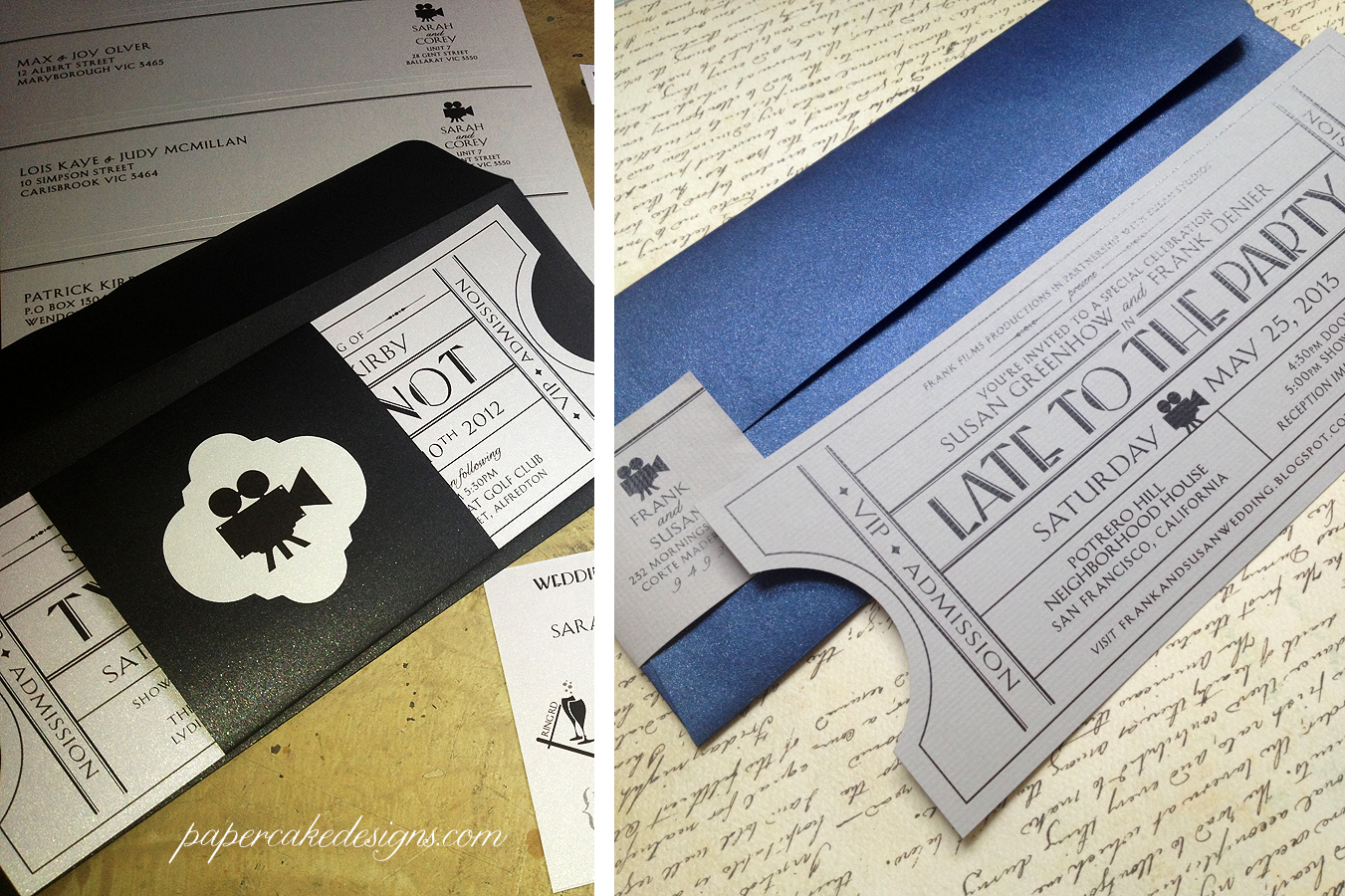 vintageticketoptions - Movie Ticket Wedding Invitations