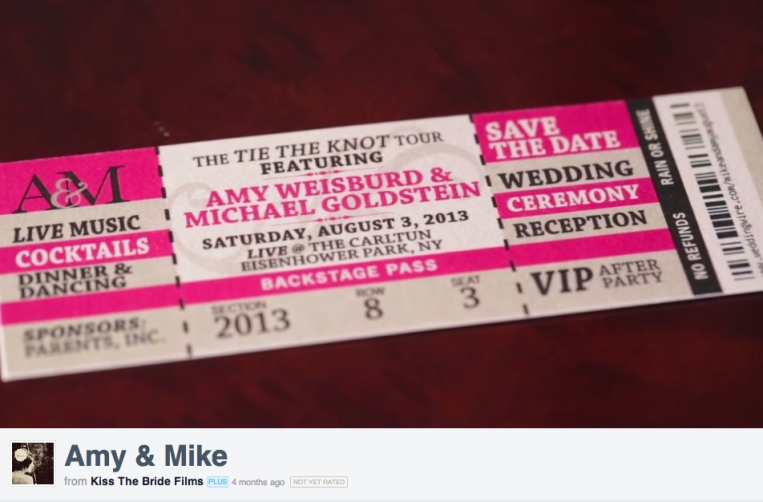concert save the date ticket