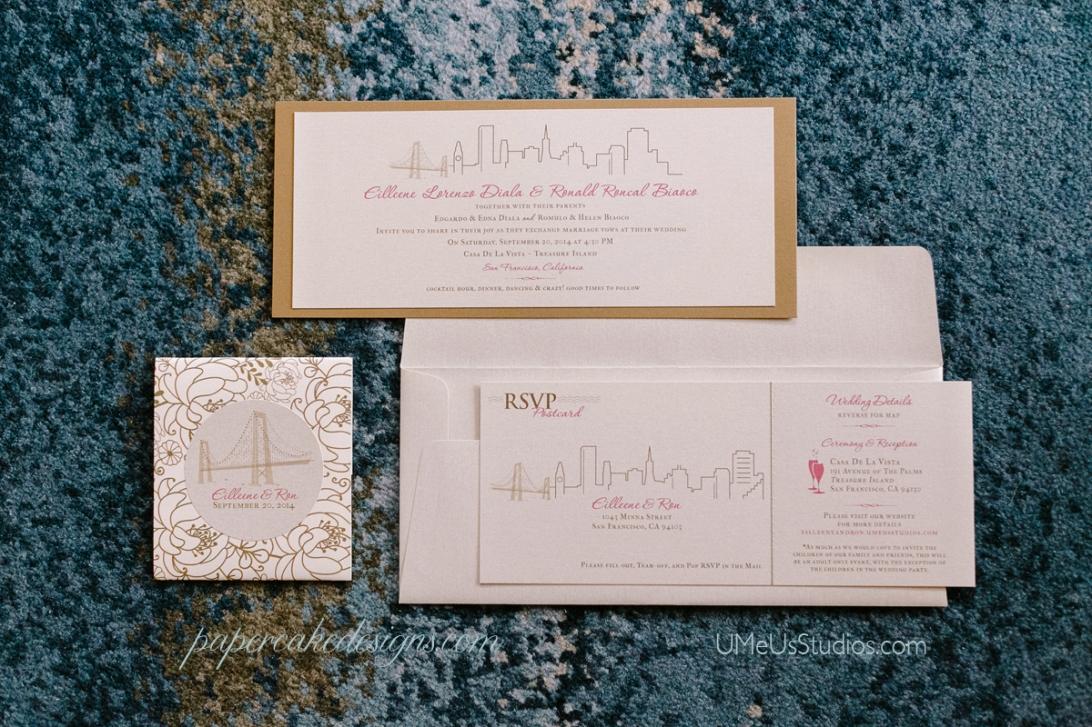 san francisco skyline invitation suite