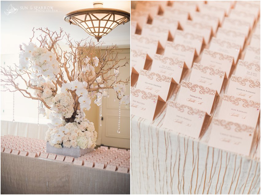 [Real Wedding] A Romantic and Glamorous Reception & table tents u2013 papercake designs