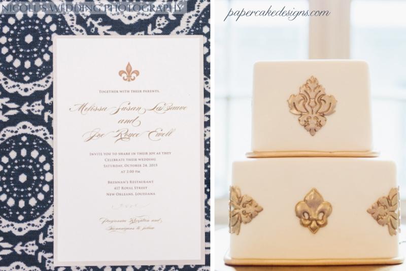 fleur de lis wedding monogram