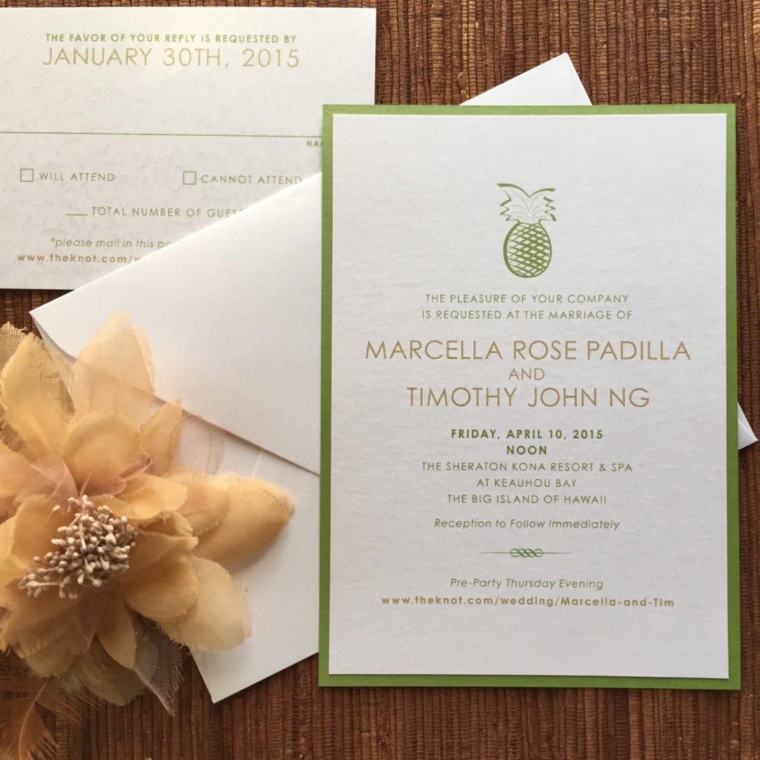 invitation flat card – papercake designs