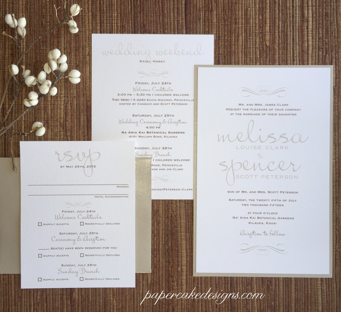 typography and texture wedding destination