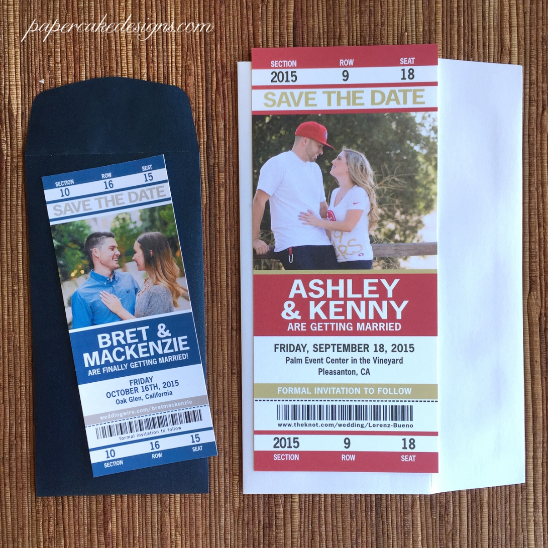 wedding sport tickets