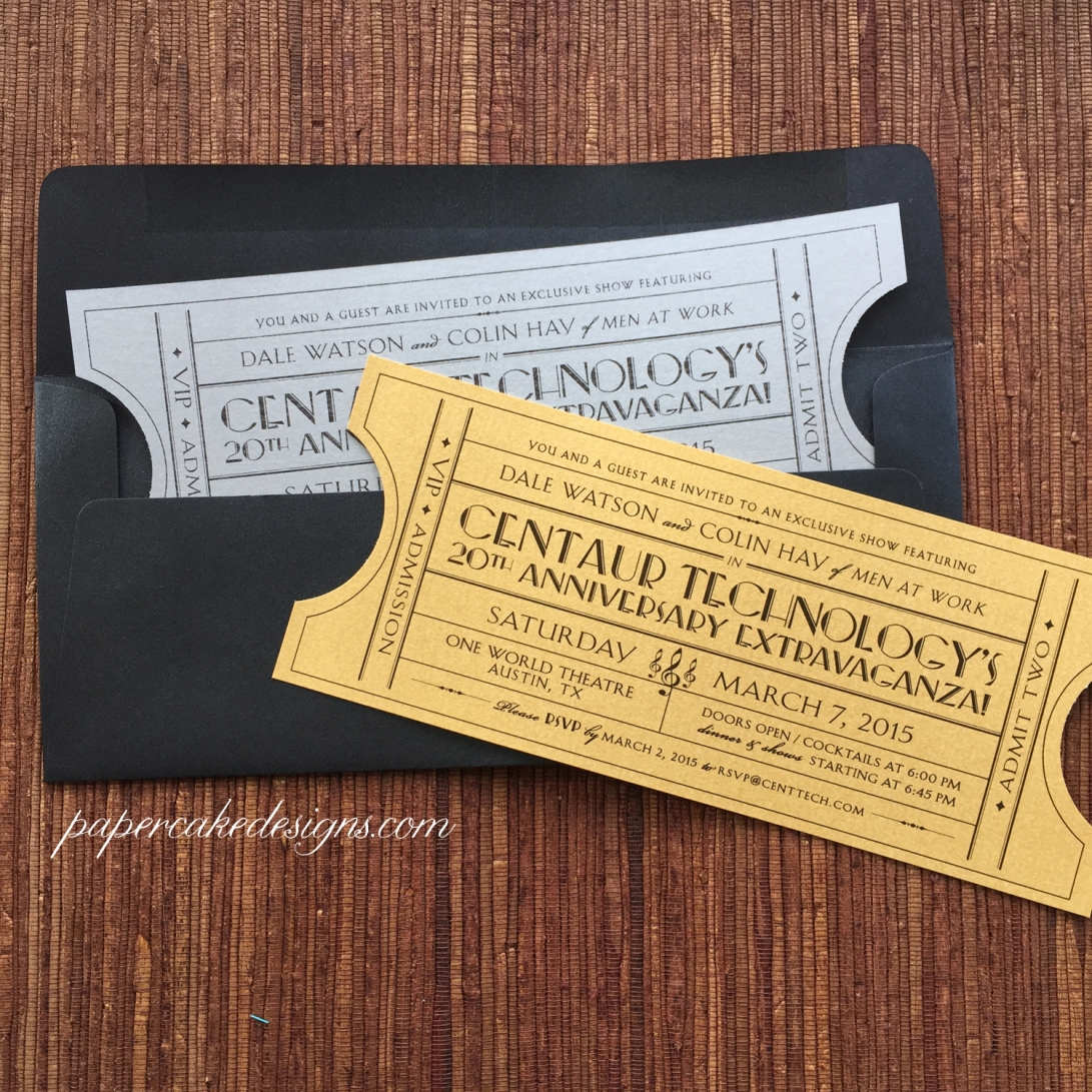 vintage theme corporate event invite
