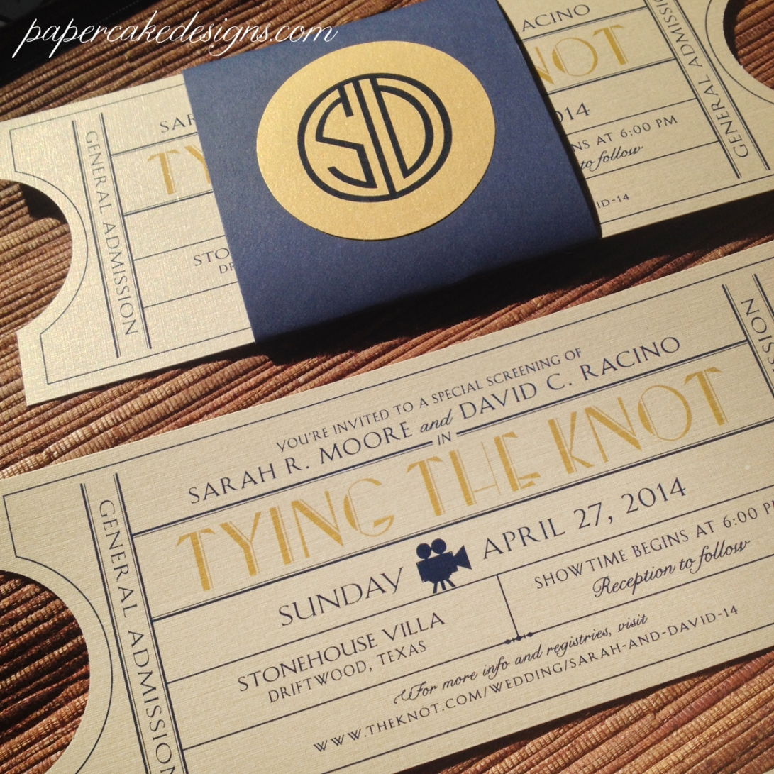 great gatsby old hollywood vintage invites