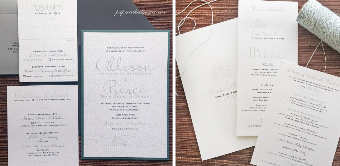 Typography wedding graphic hillside Barn