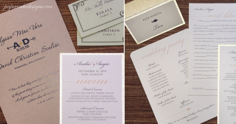 mad libs guest book wedding stationery