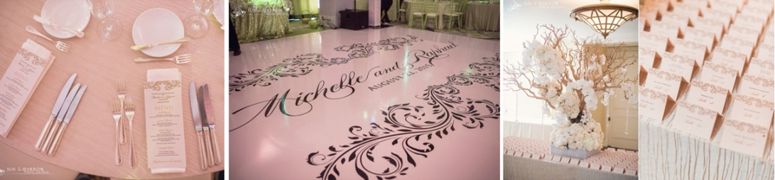wedding reception monogram dance floor