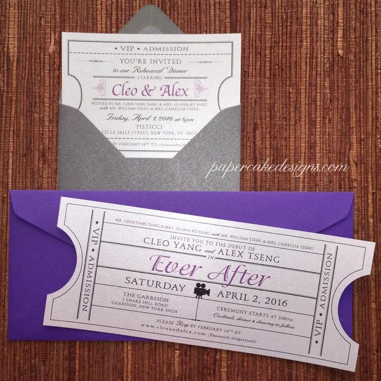 wedding dinner invites