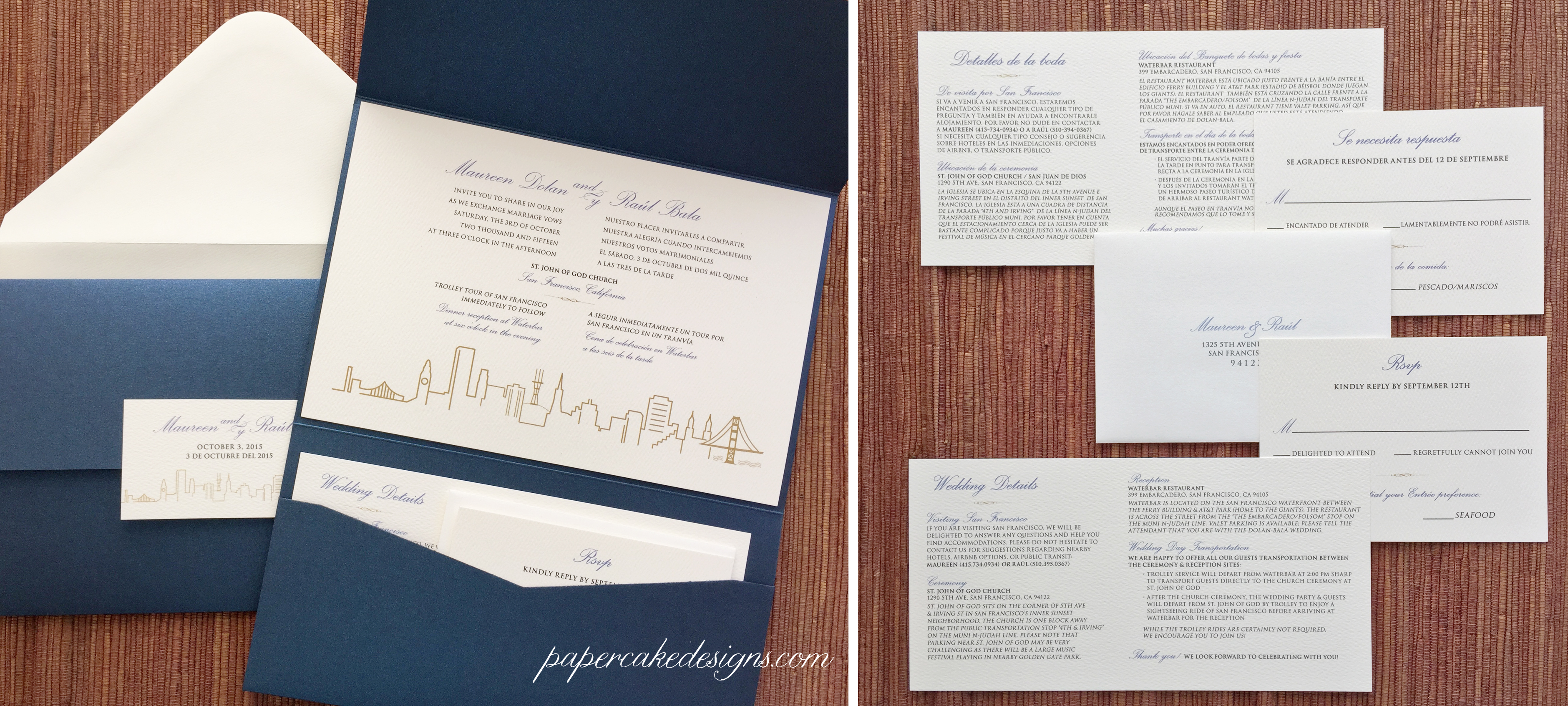 Wedding Invite Enclosures: Papercake Designs