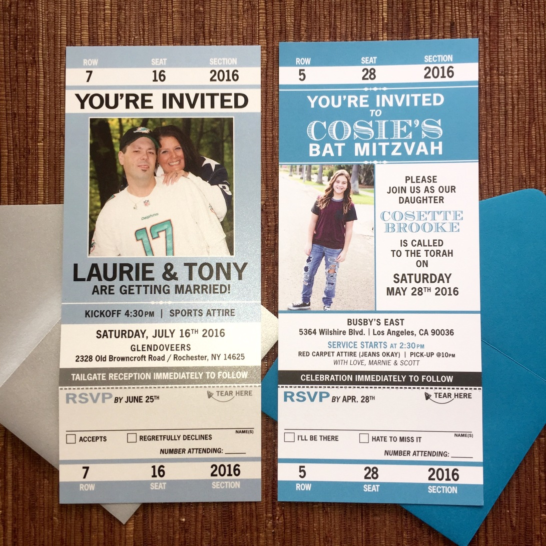 tickets: sport / concert / travel – papercake designs