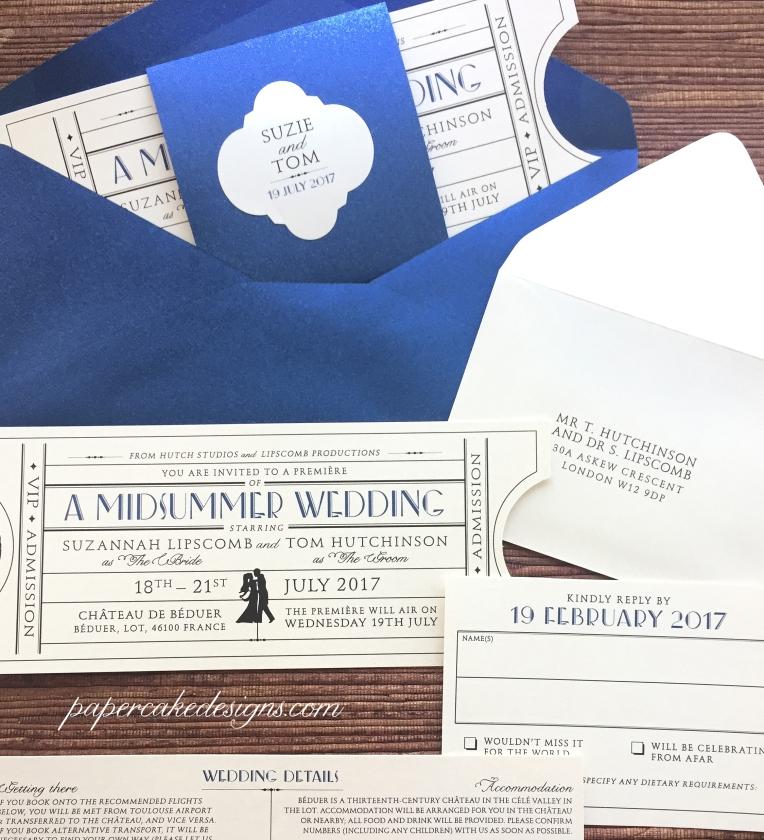 wedding invitations old hollywood ballroom