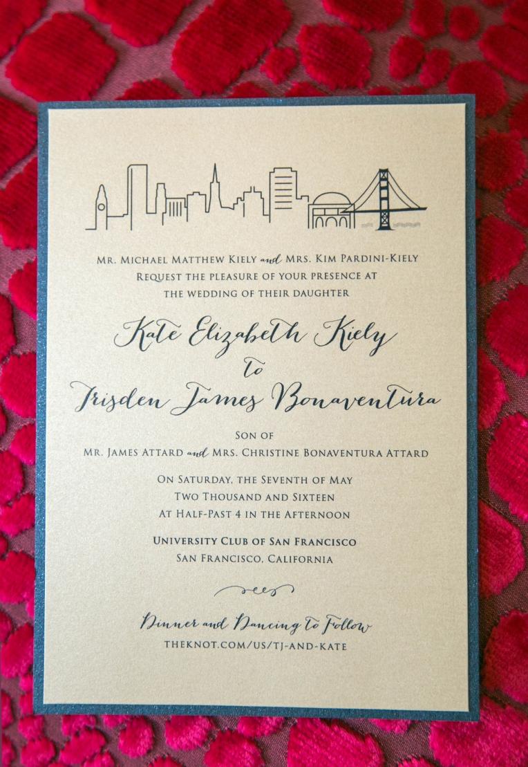 wedding invitation cityscape