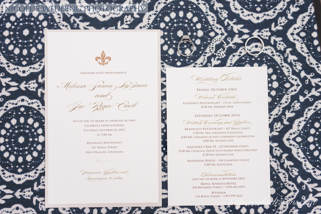 new orleans wedding invitation