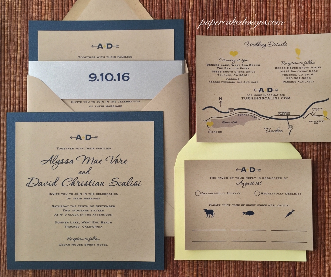 Lake Tahoe Wedding Invitations