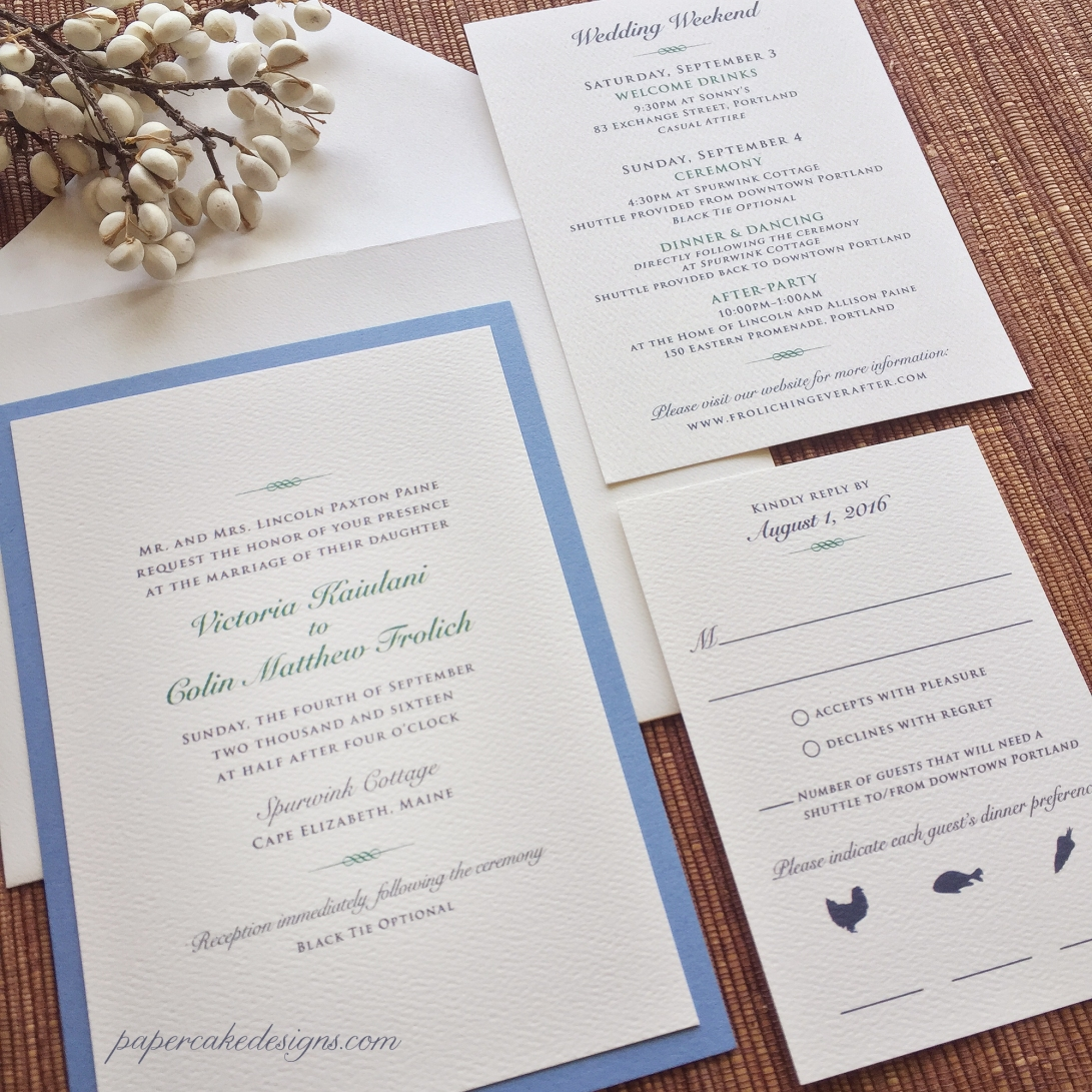 elegant wedding paper combo
