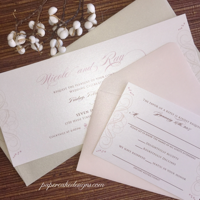 elegant invite card with rsvp
