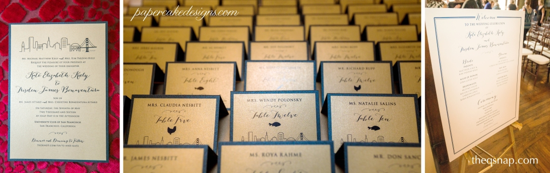 san francisco wedding stationery paper