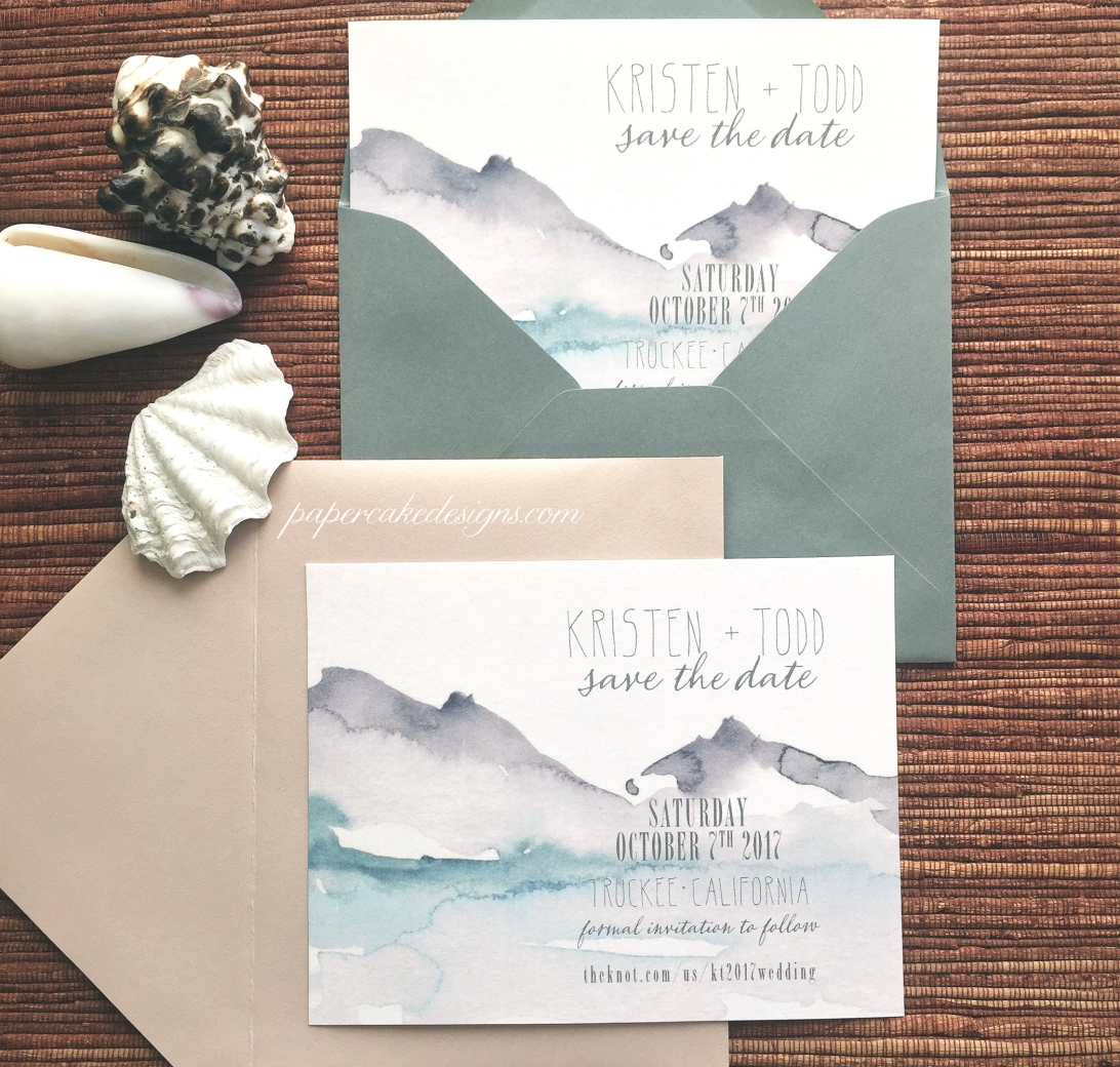 etsy wedding save the dates lakeside theme