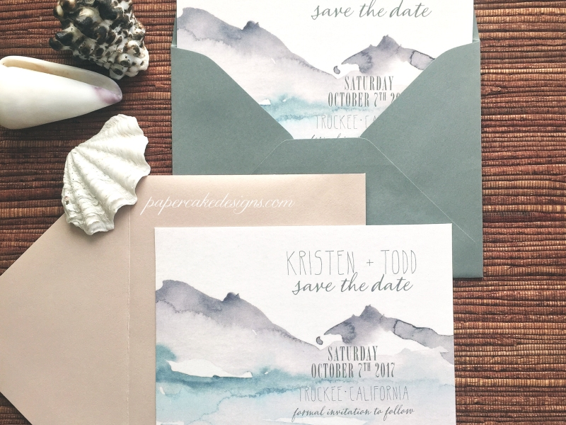 etsy wedding save the dates lakeside theme