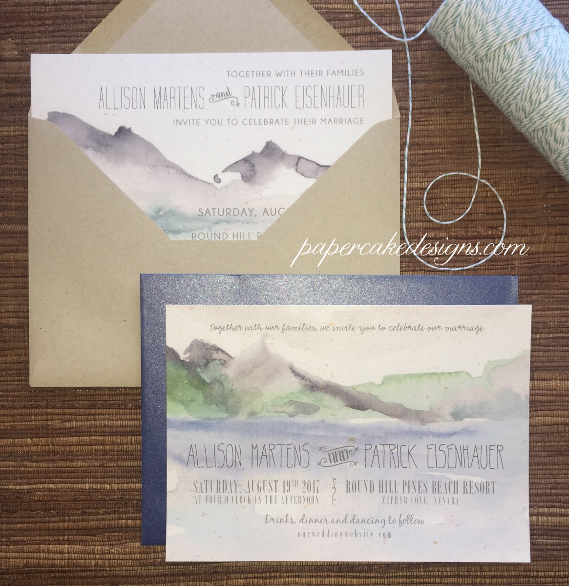 stationery design] watercolor collaboration – papercake designs