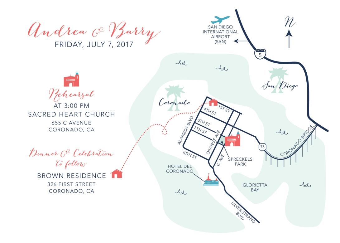 Custom Wedding Map – papercake designs