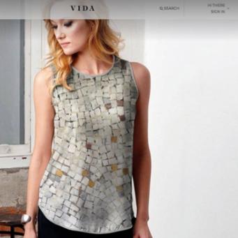 fashion designer photo fabric top
