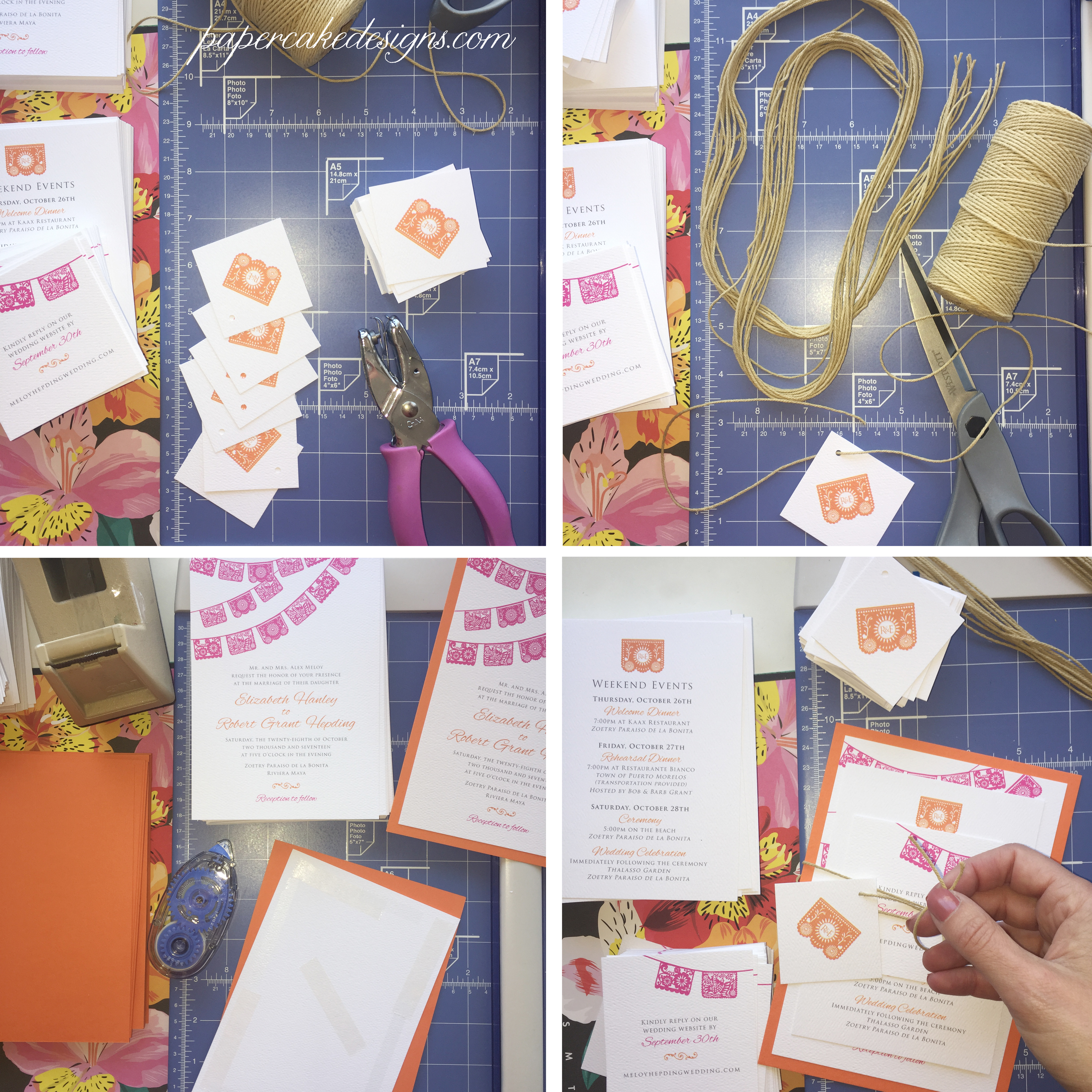 custom wedding invitation diy assembly