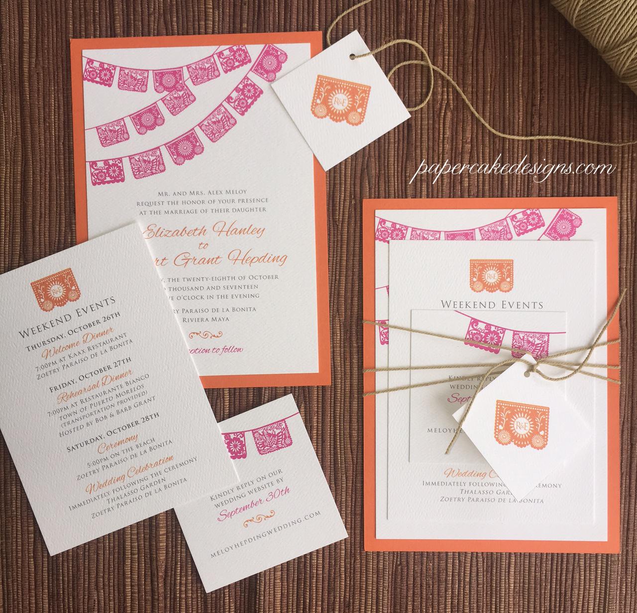 papel picado themed wedding