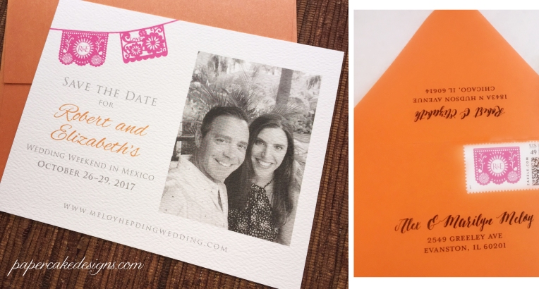 destination save the date card