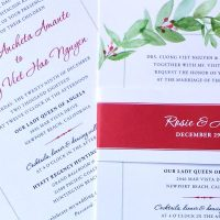 [wedding invitations] a custom bilingual invite for the holidays