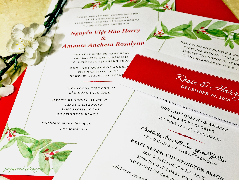 Wedding Invitation Greenery